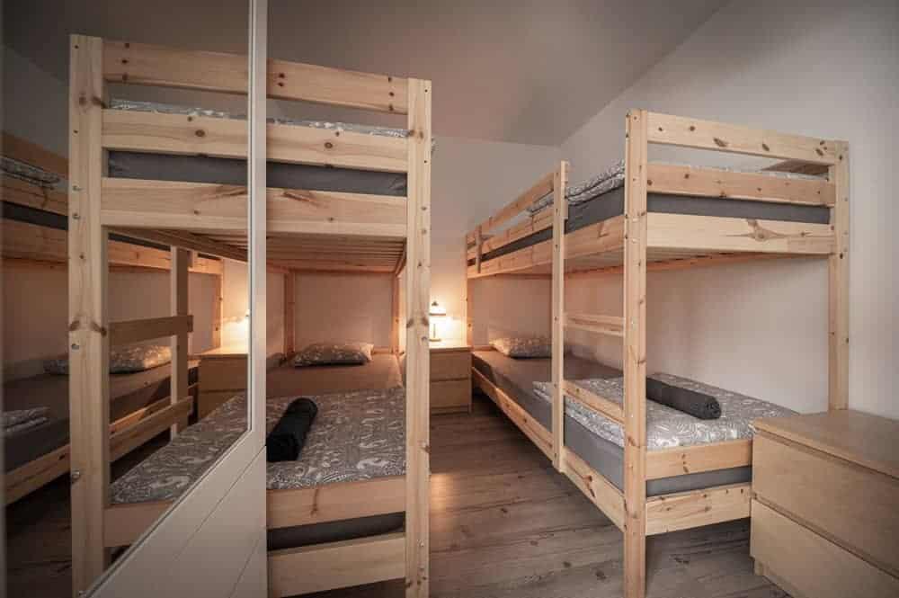 Stockbetten im 4 Bettzimmer des Ayahuasca Retreat Zentrums